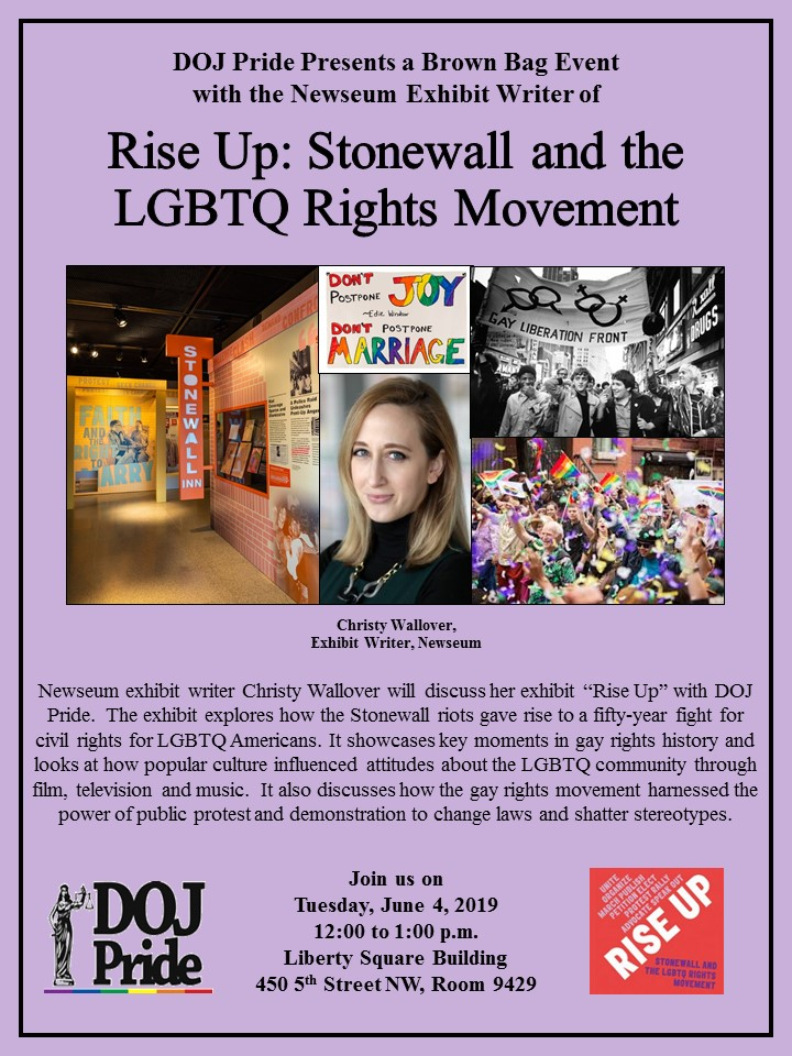 "Brown Bag with the Writer of ""Rise Up: Stonewall and the LGBTQ Rights Movement"""