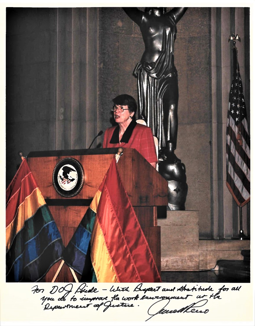 AG Janet Reno at 1994 DOJ Pride Program