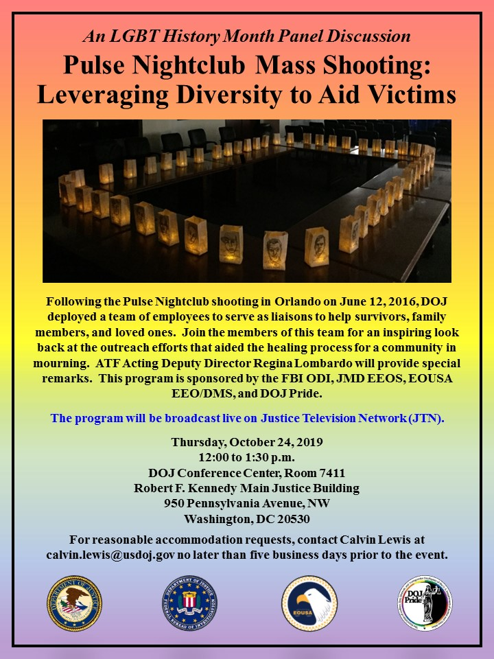REVISED - LGBTQ Orlando Outreach Team Panel Flyer - October 24, 2019